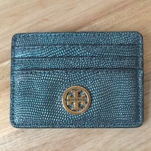 Tory Burch metallic card case - perfect